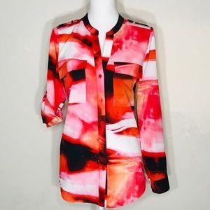 Calvin Klein Women's Button Down Top Size Lg